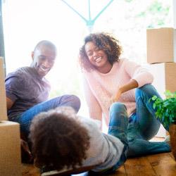 Family enjoying home